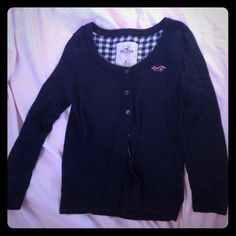 "Spotted while shopping on Poshmark: ""Navy Hollister cardigan""! #poshmark #fashion #shopping #style #Hollister #Sweaters"