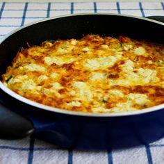 Greek Frittata with Zucchini, Tomatoes, and Feta