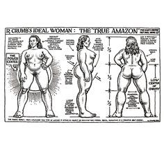 Robert R. Crumb - R. Crumb's Ideal Woman- I might try to draw the women in my comic with this stature.
