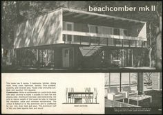 'Beachcomber mk II House' Lend Lease Homes brochure,1964. 'an affordable version of the Villa Savoye'