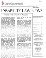 Disability Advocacy Program adds Section 35 of the Social Services Law providing legal representation of individuals whose federal disability benefits have been denied or discontinued.