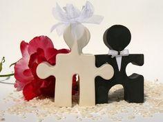 Puzzle piece Wedding Cake Topper