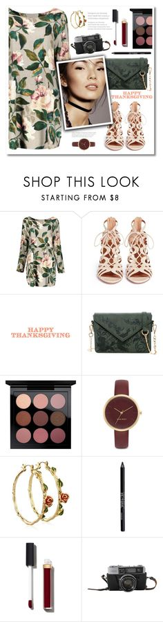 """""""Thanksgiving"""" by bubblegum59 ❤ liked on Polyvore featuring Aquazzura, Urban Expressions, MAC Cosmetics, Nine West, Disney, Urban Decay, Chanel, autumn, holiday and thanksgiving"""