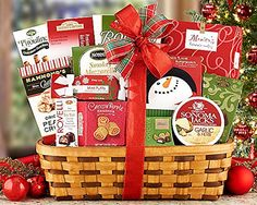 Happy Holidays Christmas Gift Basket - http://www.christmasshack.com/christmas-gift-baskets/happy-holidays-christmas-gift-basket/