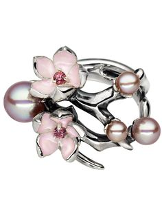 Cherry blossome ring with pearls