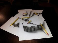 3D drawings on flat sheets of paper | Illustration | Creative Bloq