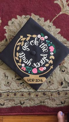 Dr. Seuss graduation cap - grad cap ideas - graduation cap quote
