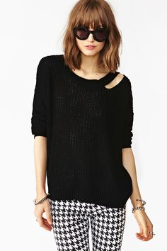 Slashed Up Knit in Black
