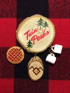 Welcome to Twin Peaks Souvenir Brooch by KitschyWitchJewelry