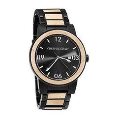 Amazon.com: Original Grain Maplewood / Matte Black Steel Wood Watch: Clothing