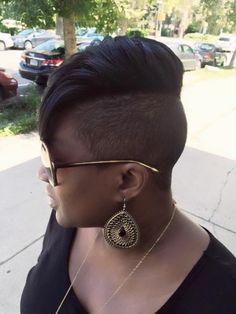 Natural hair Stylist Marketia Le'Loft LLC hair salon Philadelphia pa Mohawk Hairstyles, Shaved Hairstyles, Haircuts, Natural Tapered Cut, Tapered Sides, Black Hairstyles Pictures, Shaved Sides, Short Styles, Relaxed Hair