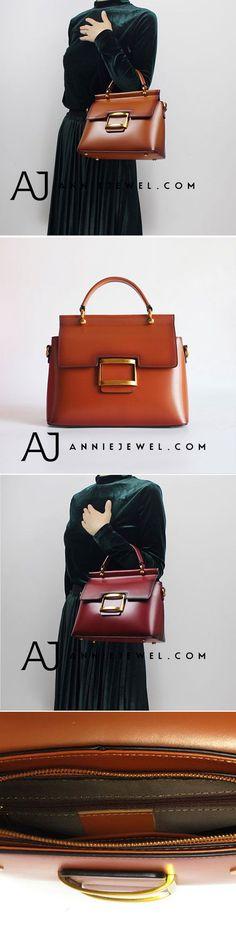 GENUINE LEATHER #handbag SHOULDER BAG SATCHEL BAG CROSSBODY BAG CLUTCH PURSE FOR WOMEN