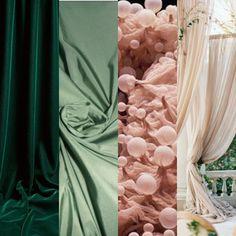 Colour scheme Emerald Green, Sage Green, Blush Pink, Champagne