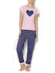 13,99€ Pijama manga corta mujer con corazones de algodón Pyjamas, Pjs, Pajama Set, Pajama Pants, Nightwear, Pretty Girls, Baby Dolls, Lounge Wear, Joggers