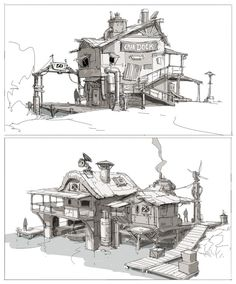 Boathouse sketches