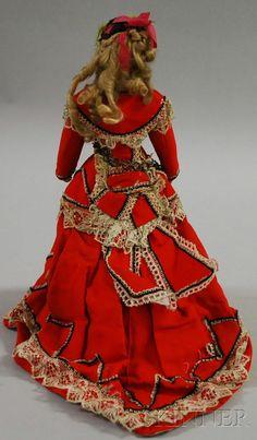 Bru Smiler Bisque Swivel Head Lady Doll | Sale Number 2530M, Lot Number 1099 | Skinner Auctioneers