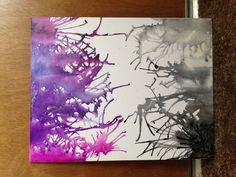 Melted crayon art or crayon canvas art.  My own creation. Spider.
