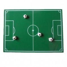 Magneetbord 'Voetbalveld' voor de wederhelft