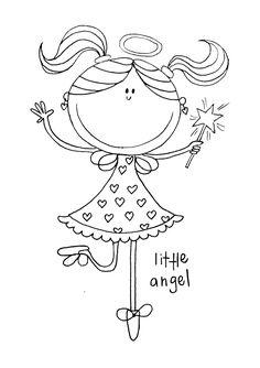 Et lite gratis digitalt stempel fra meg igjen, denne søte engelen har jegtegnet etter en serviett, med litt forandringer. Ha en fin lørdag...