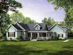 Country   Farmhouse  Victorian   House Plan 90277