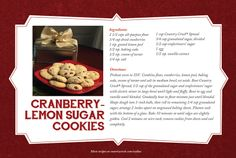 Whip up these Cranberry Lemon Sugar Cookies for your out-of-town relatives! They're sure to be a hit! Find them here: www.countrycrock.com/cookies  #CountryCrockCookies