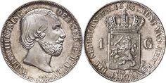 NumisBids: Schulman b.v. Auction 346, Lot 753 : KONINKRIJK DER NEDERLANDEN - WILLEM III 1849–1890 1 Gulden 1865...
