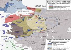 The Greco-Turkish War of was fought between Greece and the Turkish National Movement during the partitioning of the Ottoman Empire after World War I, between May 1919 and October World War I, World History, European History, Ankara, Turkic Languages, National Movement, Indian Language, Ottoman Empire, Black Sea