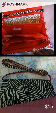 Convertible organizer Clutch on the Go Brand new Convertible organizer great gift or for yourself. Colors are white and black , red. Avon Bags Wallets