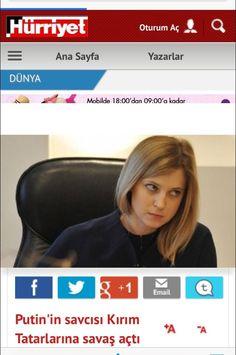 "Turkish Hurriyet's today world section issue headline reads ""Putin's Prosecutor declared war on Crimea Tatars"" pic.twitter.com/U4Npc5usWk"