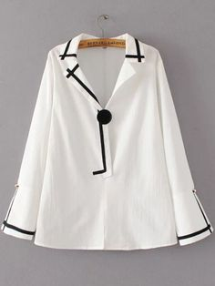 women sweet back lace up bow tie shirts black white loose blouse European style ladies solid casual tops blusas Blouse Styles, Blouse Designs, Bluse Outfit, Hijab Fashion, Fashion Outfits, Blouses For Women, T Shirts For Women, Hijab Stile, Skirts With Boots