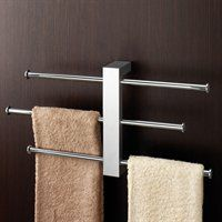 found it at allmodern gedy by nameeks bridge wall mounted sliding three tier towel holder in chrome expensive but would work
