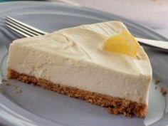 Dairy free cheese cake with lemon