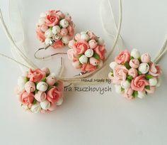 Polymer Clay Jewelry  Handmade Flowers Set by IraRuzhovych on Etsy