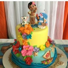 Moana Birthday Cakes More Gorgeous Than the Ocean Beyond the Reef - Shopkins Party Ideas Moana Birthday Party Theme, Moana Themed Party, Moana Party, Luau Birthday, 2nd Birthday Parties, Birthday Ideas, Moana Birthday Cakes, Moana Theme Cake, Princess Birthday