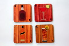 #GABAMBO Tables are scared of commitment. Use these coasters to keep them away from rings! Masters of Alcohol - coasters  Available at www.gabambo.com