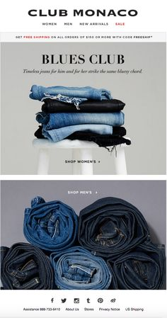 Club Monaco - Blue Jeans Still Photography, Clothing Photography, Fashion Photography, Denim Display, Campaign Fashion, Flatlay Styling, Book Design Layout, Fashion Project, Textiles