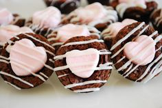 Make your brownies...then when they are done...add the heart shaped marshmallows when you take them out of the oven...the white chocolate is extra decoration!