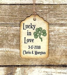 Party Favor Tags, Wedding Favor Tags, Gift Tags, Party Favors, Baby Shower Tags, Lucky In Love, Irish Celtic, Liquor Bottles, My Etsy Shop