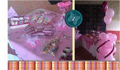Mesas de dulces, todo personalizado.