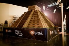 World's Largest Chocolate Sculpture Is a Tribute to the Mayan Civilization - To celebrate its 30th anniversary, Qzina Specialty Foods has set a new Guinness Record for the World's Largest Chocolate Sculpture, by creating a sweet replica of a Mayan temple weighing 18,239 pounds. | #Art #Sculpture #Chocolate |