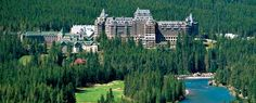 Fairmont Banff Springs Hotel, Banff Canada. went to a wedding here, it was amazing! simple, classic.