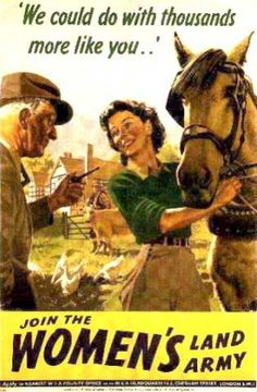 British Propaganda Posters of the Second World War - Join the Women's Land Army