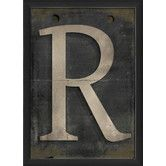 Found it at Wayfair - Letter R Framed Textual Art in Black and Gray