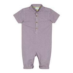 Baker by Ted Baker Babies purple geo print shirt romper suit- at Debenhams.com