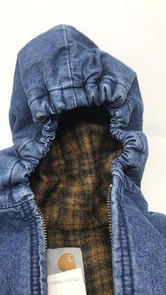 cba813354 Sale Sale Sale Carhartt kids Blanket line blue jean hooded chore coat Jean  Jacket