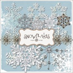 Freebies Snowflakes Elements Kit