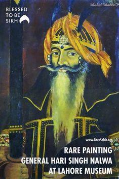 #BlessedTobeSikh Rare Painting of Hari Singh Nalwa at Lahore Museum! Share & Spread