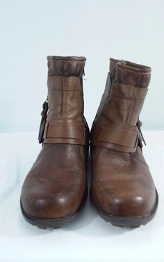 EARTH ORIGINS WOMENS SIZE 9.5 M CHESTNUT BROWN BILLIE ANKLE BOOTS #EarthOrigins #BikerBoots #Casual