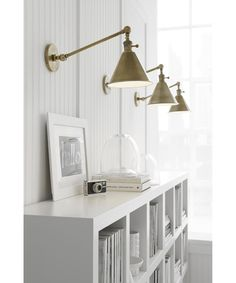 Buy the Visual Comfort SL Antique Nickel Direct. Shop for the Visual Comfort SL Antique Nickel Boston Wide Wall Sconce and save. Wall Sconce Lighting, Cool Lighting, Wall Sconces, Kitchen Lighting, Bedroom Sconces, Brass Wall Lights, Lighting Ideas, Bookcase Lighting, Basement Lighting