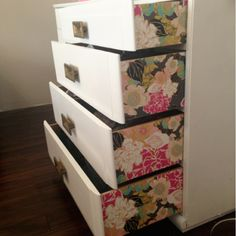 DIY Wallpaper Dresser | chelseylifeanddesign.blogspot.com